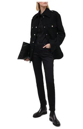 Женские кожаные челси SANTONI черного цвета, арт. WTWK58153SMCDLESN20 | Фото 2