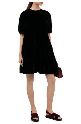 Женские текстильные сандалии fussbett MARNI бордового цвета, арт. FBMS003801/P3784 | Фото 2