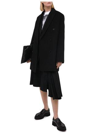 Женская кожаные дерби CASADEI черного цвета, арт. 1C185R0401C10269000 | Фото 2