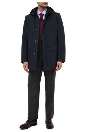 Мужской кожаные дерби W.GIBBS бордового цвета, арт. 0220003/2302 | Фото 2