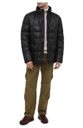 Мужские кожаные кроссовки W.GIBBS коричневого цвета, арт. 8491001/2304 | Фото 2