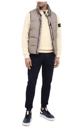 Мужские кожаные кеды FRANCESCHETTI синего цвета, арт. 2259003/2221 | Фото 2