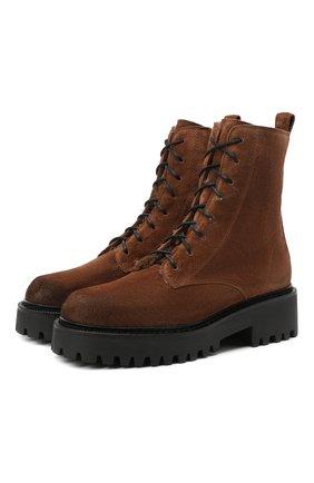 Женские замшевые ботинки VIC MATIE коричневого цвета, арт. 1Y5155D.Y10X050335 | Фото 1