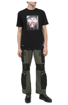Мужские кожаные кеды RBRSL черного цвета, арт. 7Y2280U.Y40TYDTD68 | Фото 2