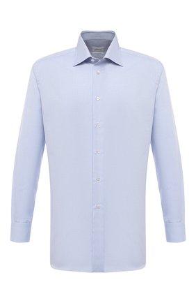Мужская хлопковая сорочка BRIONI голубого цвета, арт. RCA20M/PZ063 | Фото 1