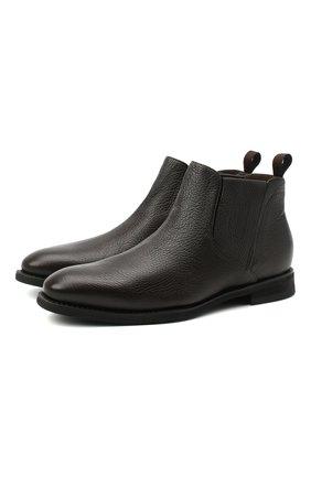 Мужские кожаные сапоги BARRETT темно-коричневого цвета, арт. 202U019.10/CERV0 ASP0RTABILE | Фото 1