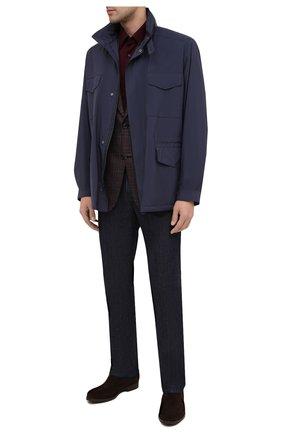 Мужские замшевые челси BARRETT темно-коричневого цвета, арт. 202U047.3/REPELL0 0IL | Фото 2 (Материал внутренний: Натуральная кожа; Подошва: Плоская; Мужское Кросс-КТ: Челси-обувь, Сапоги-обувь; Материал внешний: Замша)