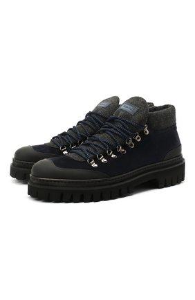 Мужские замшевые ботинки BARRETT темно-синего цвета, арт. ASPEN-10969.9/GUMMY | Фото 1