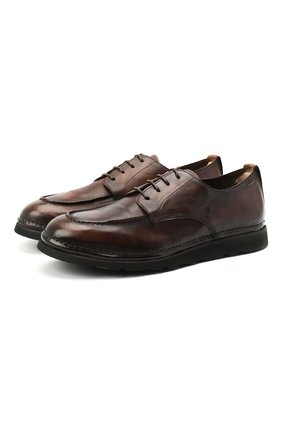 Мужские кожаные дерби ALEXANDER HOTTO темно-коричневого цвета, арт. 58039/RIDER TE | Фото 1