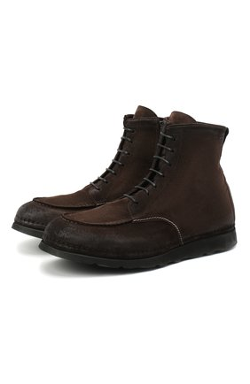 Мужские замшевые ботинки ALEXANDER HOTTO темно-коричневого цвета, арт. 58041/SENS0RY TE | Фото 1