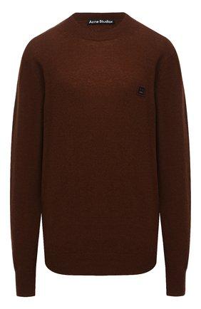 Женский шерстяной пуловер ACNE STUDIOS коричневого цвета, арт. C60016/W | Фото 1