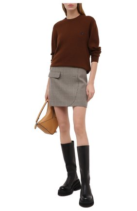 Женский шерстяной пуловер ACNE STUDIOS коричневого цвета, арт. C60016/W | Фото 2