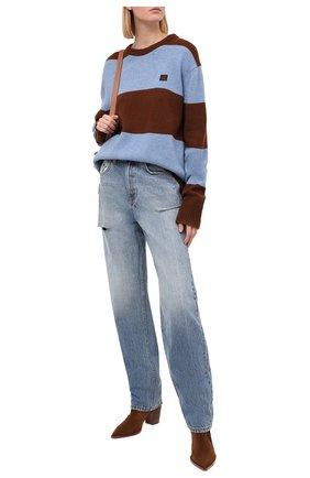 Женский шерстяной пуловер ACNE STUDIOS коричневого цвета, арт. C60019/W | Фото 2