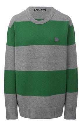 Женский шерстяной пуловер ACNE STUDIOS зеленого цвета, арт. C60019/W | Фото 1