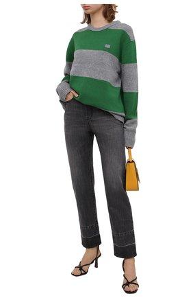 Женский шерстяной пуловер ACNE STUDIOS зеленого цвета, арт. C60019/W | Фото 2