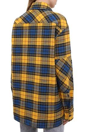 Женская хлопковая рубашка ACNE STUDIOS желтого цвета, арт. CB0023/W   Фото 4
