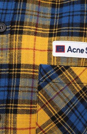 Женская хлопковая рубашка ACNE STUDIOS желтого цвета, арт. CB0023/W   Фото 5