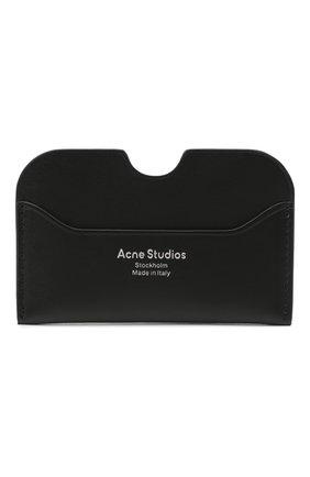 Женский кожаный футляр для кредитных карт ACNE STUDIOS черного цвета, арт. CG0107/W | Фото 1