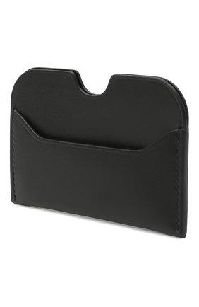 Женский кожаный футляр для кредитных карт ACNE STUDIOS черного цвета, арт. CG0107/W | Фото 2