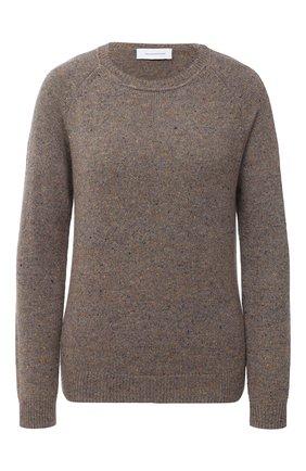Женский кашемировый пуловер ALEXANDRA GOLOVANOFF светло-коричневого цвета, арт. MILA TWEED | Фото 1