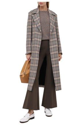 Женский кашемировый пуловер ALEXANDRA GOLOVANOFF светло-коричневого цвета, арт. MILA TWEED | Фото 2