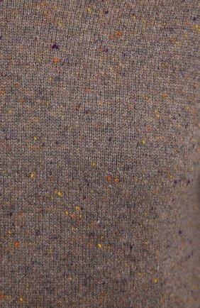 Женский кашемировый пуловер ALEXANDRA GOLOVANOFF светло-коричневого цвета, арт. MILA TWEED   Фото 5 (Материал внешний: Шерсть, Кашемир; Рукава: Длинные; Длина (для топов): Стандартные; Женское Кросс-КТ: Пуловер-одежда)