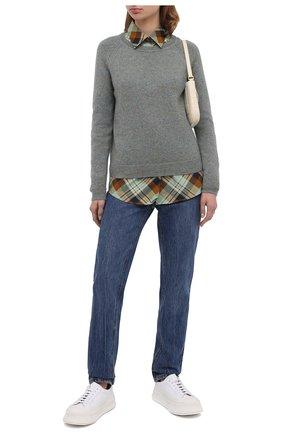 Женский кашемировый пуловер ALEXANDRA GOLOVANOFF светло-зеленого цвета, арт. MILA TWEED | Фото 2