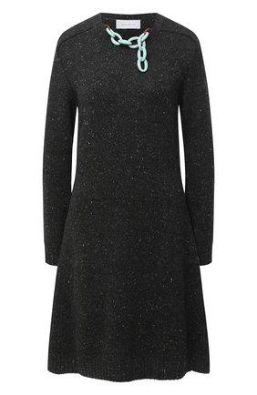 Женское кашемировое платье ALEXANDRA GOLOVANOFF темно-серого цвета, арт. R0BE AURELIE | Фото 1