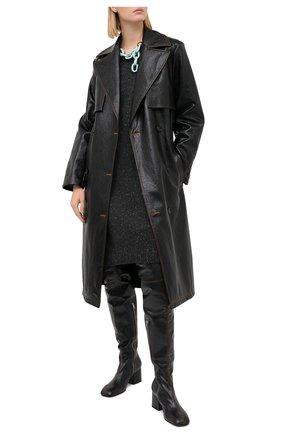 Женское кашемировое платье ALEXANDRA GOLOVANOFF темно-серого цвета, арт. R0BE AURELIE | Фото 2
