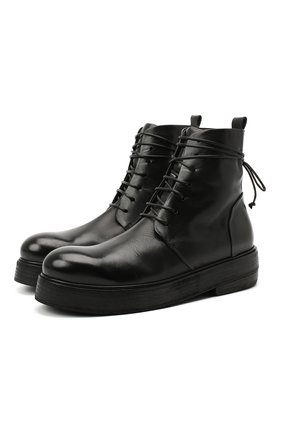 Женские кожаные ботинки MARSELL черного цвета, арт. MW5191/PELLE VITELL0 | Фото 1