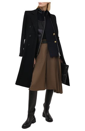 Женские шерстяные шорты SACAI коричневого цвета, арт. 20-05133 | Фото 2