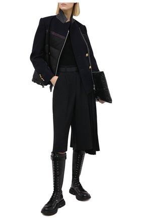 Женские шерстяные шорты SACAI черного цвета, арт. 20-05133 | Фото 2