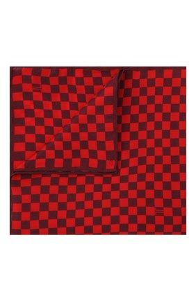 Мужской шелковый платок LANVIN красного цвета, арт. 3824/HANDKERCHIEF | Фото 1