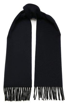 Мужской кашемировый шарф LANVIN темно-синего цвета, арт. 5300/SCARF | Фото 1