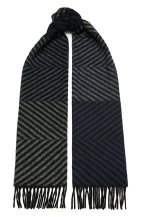 Мужской кашемировый шарф LANVIN синего цвета, арт. 5306/SCARF | Фото 1