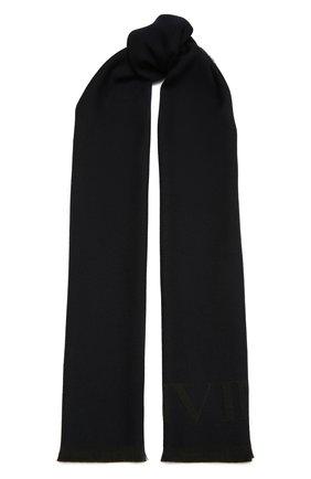 Мужской шерстяной шарф LANVIN темно-синего цвета, арт. 5419/SCARF   Фото 1