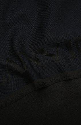Мужской шерстяной шарф LANVIN темно-синего цвета, арт. 5419/SCARF   Фото 2