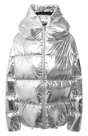 Женский пуховая куртка BACON серебряного цвета, арт. NEW CL0UD METAL | Фото 1