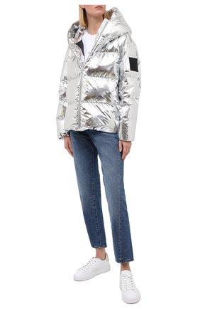 Женский пуховая куртка BACON серебряного цвета, арт. NEW CL0UD METAL | Фото 2