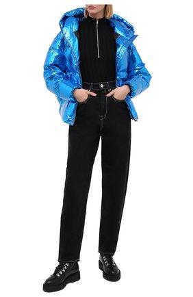 Женский пуховая куртка BACON синего цвета, арт. NEW CL0UD METAL | Фото 2