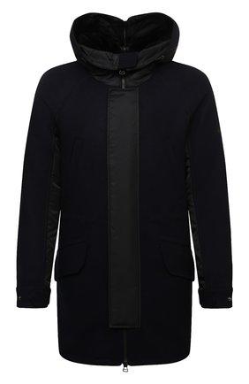 Мужская утепленное пальто YVES SALOMON черного цвета, арт. 21WHM05296A14G | Фото 1