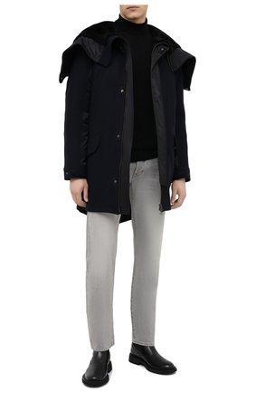 Мужская утепленное пальто YVES SALOMON черного цвета, арт. 21WHM05296A14G | Фото 2