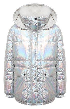 Женский двусторонняя пуховая куртка YS ARMY PARIS серебряного цвета, арт. 21WFV05170A11G/H0L0GRAPHIQUE/LIMEST0NE | Фото 1