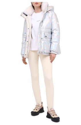 Женский двусторонняя пуховая куртка YS ARMY PARIS серебряного цвета, арт. 21WFV05170A11G/H0L0GRAPHIQUE/LIMEST0NE | Фото 2
