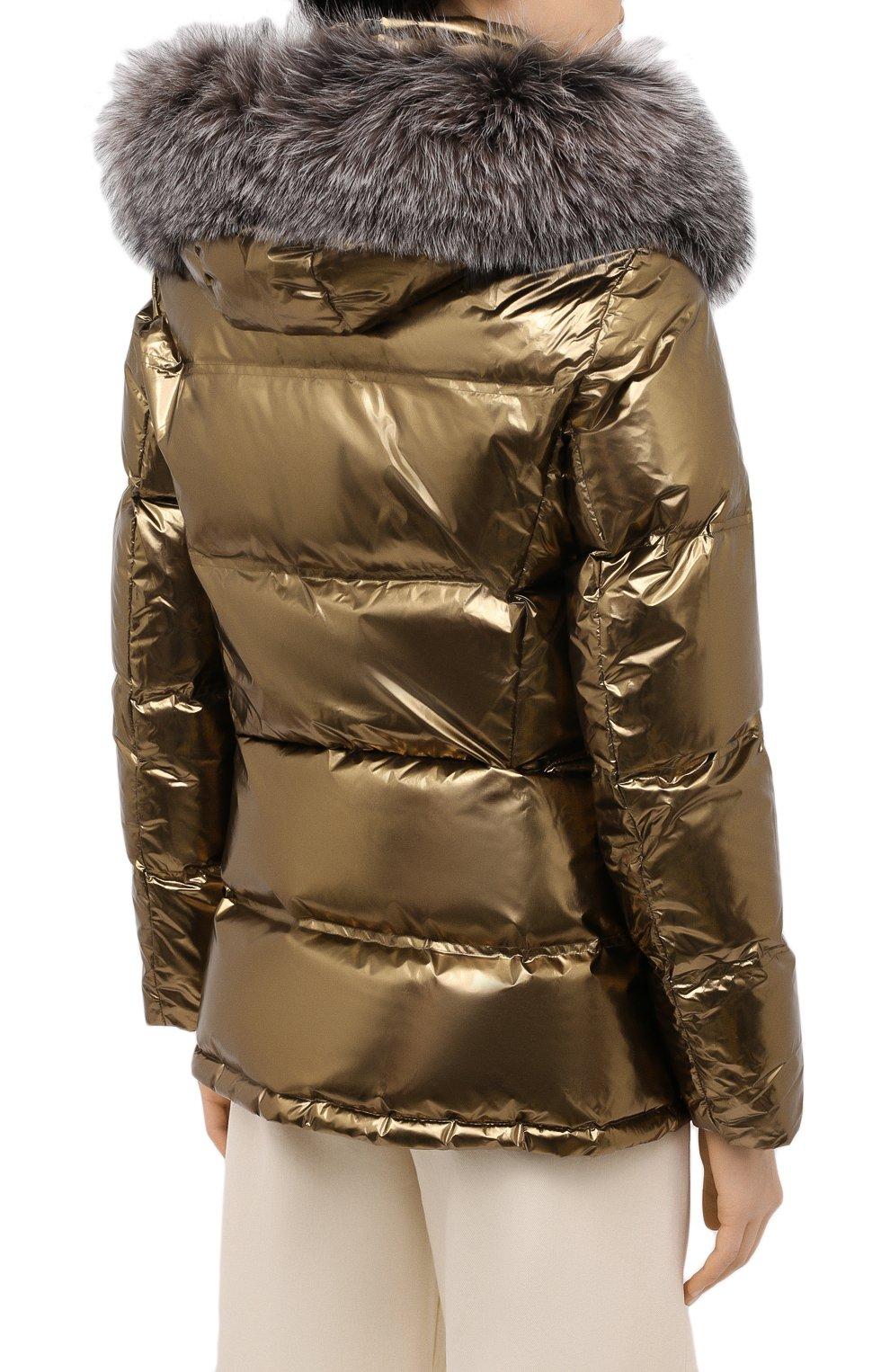 Женский пуховик YS ARMY PARIS золотого цвета, арт. 21WFV05268A11G | Фото 4