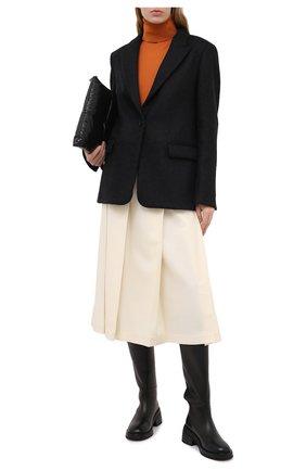Женский шерстяной жакет WINDSOR черного цвета, арт. 52 DS424V 10009981 | Фото 2