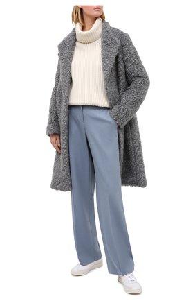 Женские шерстяные брюки WINDSOR голубого цвета, арт. 52 DHE101 10009998 | Фото 2