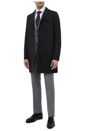 Мужской шерстяное пальто HARRIS WHARF LONDON темно-серого цвета, арт. C9101MGG | Фото 2