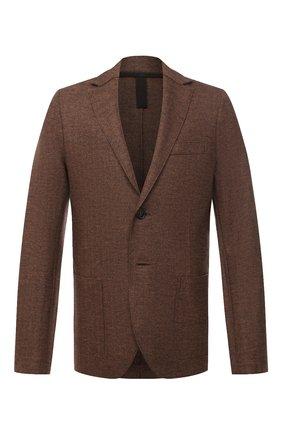 Мужской шерстяной пиджак HARRIS WHARF LONDON коричневого цвета, арт. C8B22MGN   Фото 1