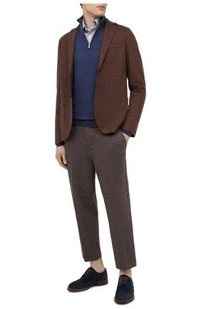 Мужской шерстяной пиджак HARRIS WHARF LONDON коричневого цвета, арт. C8B22MGN   Фото 2